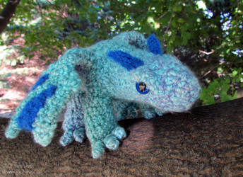 Raindrop Dragon Plushy by sunhawk