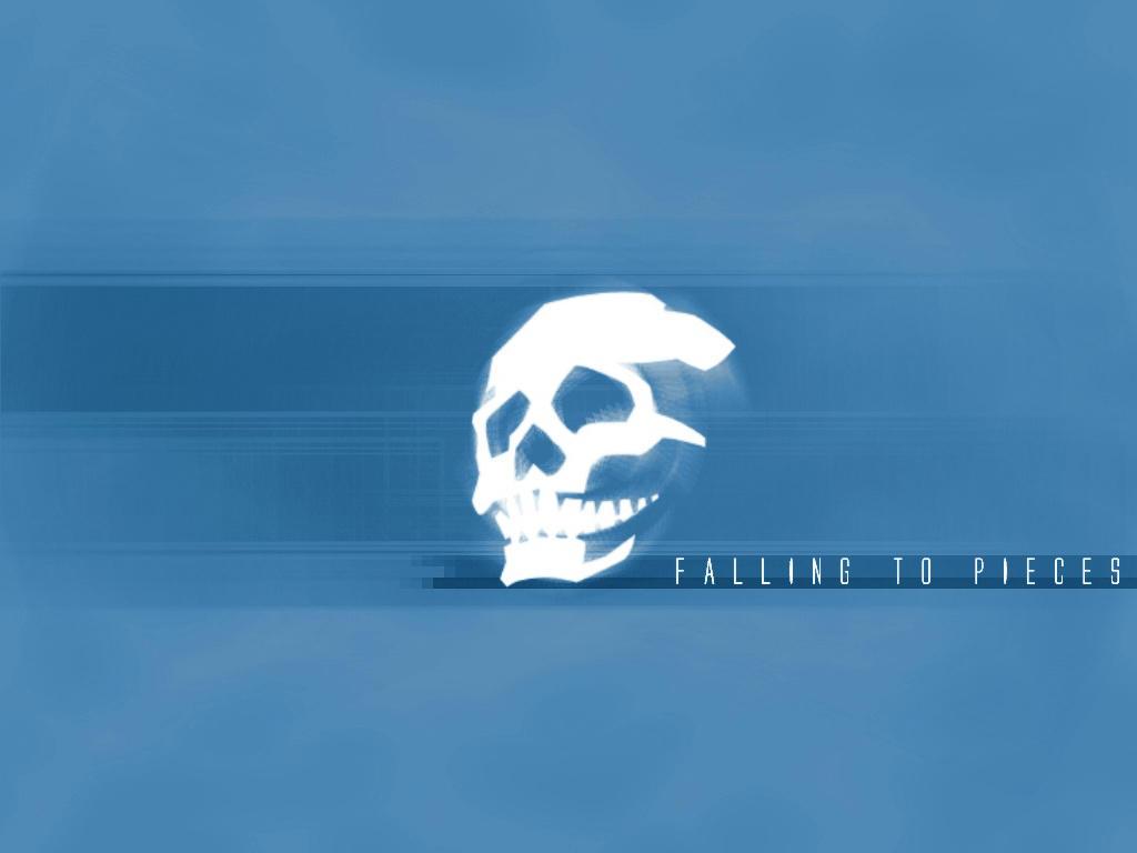 skullsticker blue by 10r