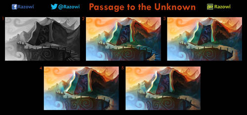 Passage to the Unknown - Work in Progress by Razowi