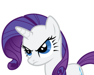 Rarity is not amused. by Dharthez