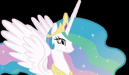 Princess Celestia's amused smile. by Dharthez
