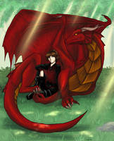 Dragon and His Knight by raerae