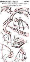 Demon Wings - Angles by raerae