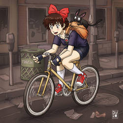 Kiki's Bike Messenger Service by Usagisama