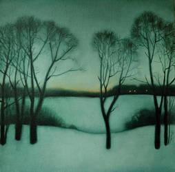 Winter Landscape V by DawidZdobylak