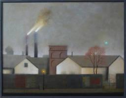 Old factory, city landscape by DawidZdobylak