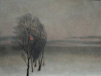 Landscape with sunset by DawidZdobylak