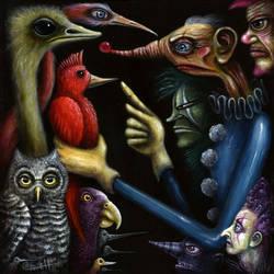 CLOWNS vs. BIRDS by RSConnett