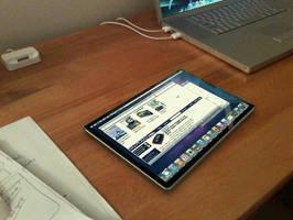 Apple Tablet Mockup by halfwayglad