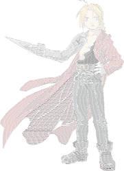 Edward Elric Word Art. by TheOtakuMusician