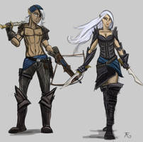 Broody Pirate Elves by coolbyproxy