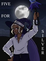 Magpies Counting Rhyme- Five for Silver (5/7) by QueenPeaceKitty