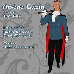 Arsene Lupin 3D Model by CelebrenIthil