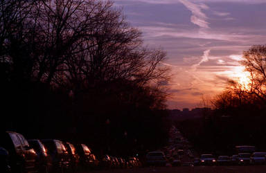 constitution ave at sunset by monkfu