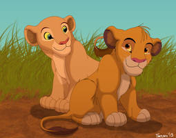 Simba and Nala by Tanzani