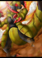 Pokemon: Haxorus by Ink-Leviathan