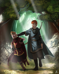 Commission: Kyte and Elbi by biscuitcrumbs