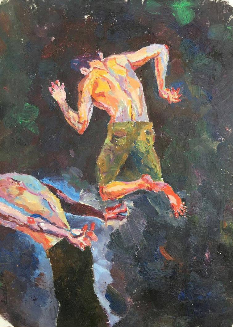 Denis Sarazhin - Oil Painting #2 by SaraMohsen
