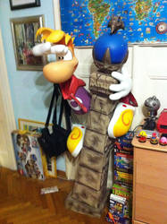 Rayman Lifesize Leptys Statue by OldClassicGamer