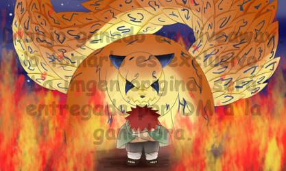 Naruto | Gaara and Shukaku (Giveaway-Drawing) by ZoruDawn