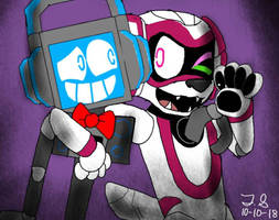 Tekno (Robot OC) and Fandroid by LoudandProudFanGirl