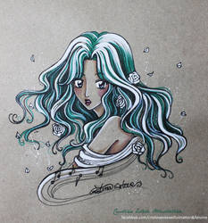 Sketch color Michiru Kaioh - Fanart Sailor Moon by CrisEsHer