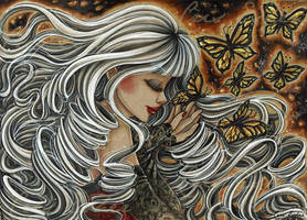 The beautiful demon butterfly - Miyu OC by CrisEsHer