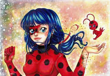 Tikki! Transforme - moi! - Fanart Ladybug by CrisEsHer