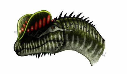 Sexy Male sneak peek - Dilophosaurus by amorousdino