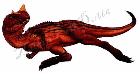 Lazy Ceratosaurus by amorousdino