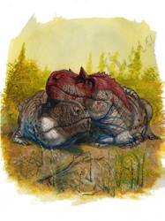 Tyrannosaur Fluff by amorousdino