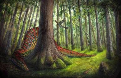 Dragon's Lair by amorousdino