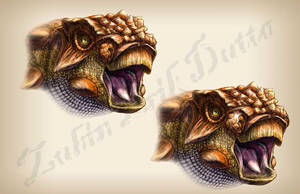 Akainacephalus Honk by amorousdino