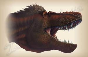 Tyrannosaur Gape Redux by amorousdino