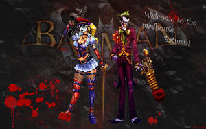 Harley Quinn and Joker Arkham Asylum wallpaper by KrAm5597
