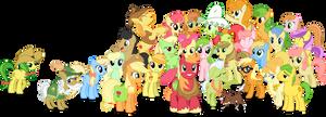 Apple Family no BG (Clothed Braeburn) by AppleFamily