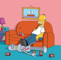 Homer-Bender by padrino666
