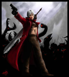 Dante VS The Demon Horde by Destinyfall