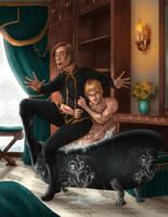 Surprise Bath (Commission) by Destinyfall