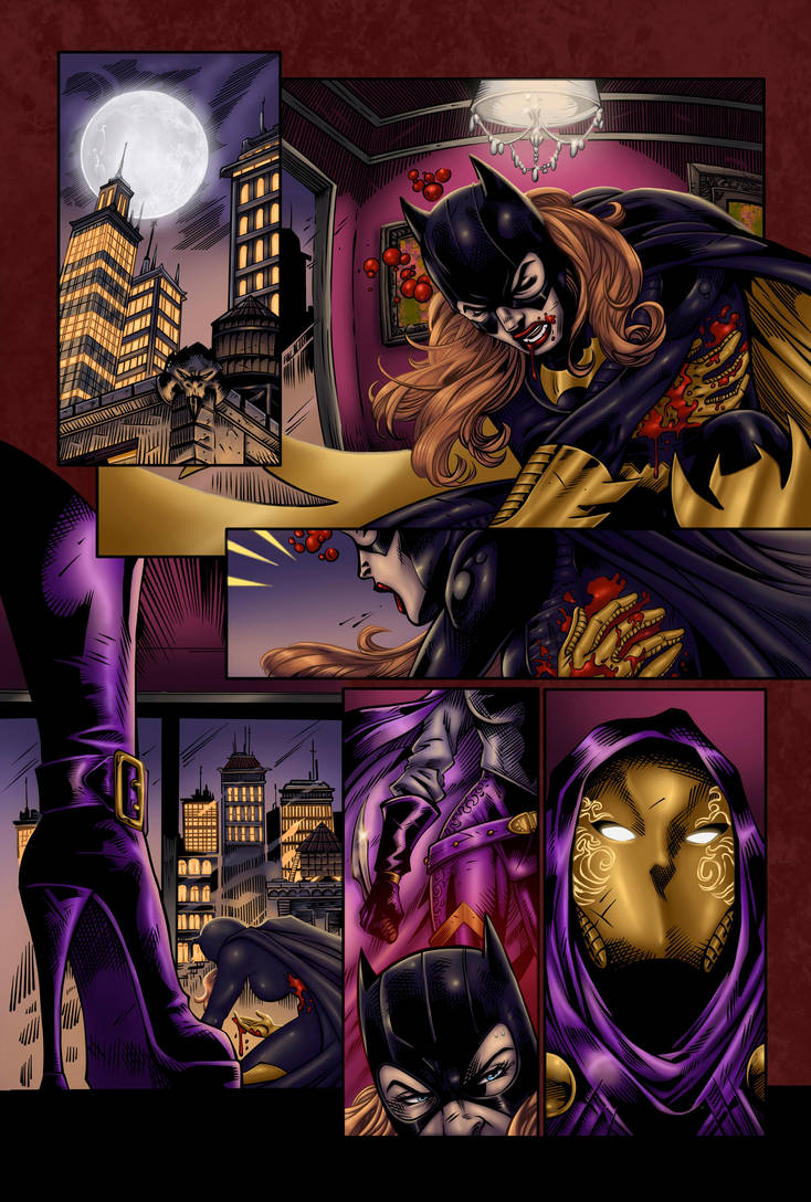 Bat Girl Page 1 (Colors) by Destinyfall