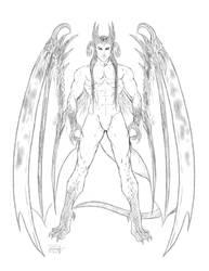 Ciaran (sexy new Feral kin dragon man) by Destinyfall