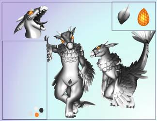 Kaiju char sheet (commission) by Destinyfall