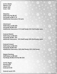 Price list 2018 by Destinyfall