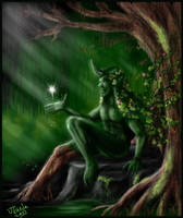 Forest spirit by Destinyfall