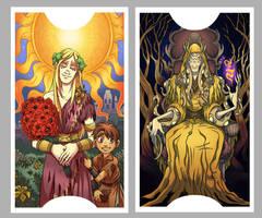 .Lovecraft Tarot: The Sun + The Emperor. by MalakiaLaGatta