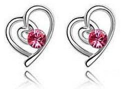 Rose Swarovski Earrings by LypticLayouts