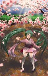 Fanart - Hatsune 'Sakura' Miku by GrimbySlayer