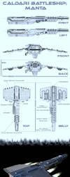 Manta class battleship by ACXtreme
