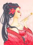 Geisha - Copic Coloring Contest by Ascadelia