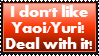 Anti Yaoi/Yuri stamp by Username-91